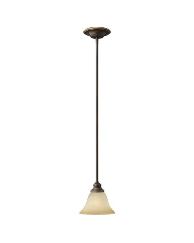 Hinkley Cello 1 Light Mini Pendant In Antique Bronze Finish With Height Adjustable Rods And Faux Alabaster Glass Shade