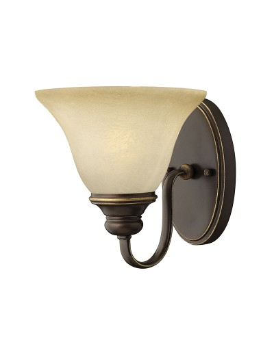 Hinkley Cello 1 Light Wall Light In Antique Bronze Finish With Faux Alabaster Glass Shade