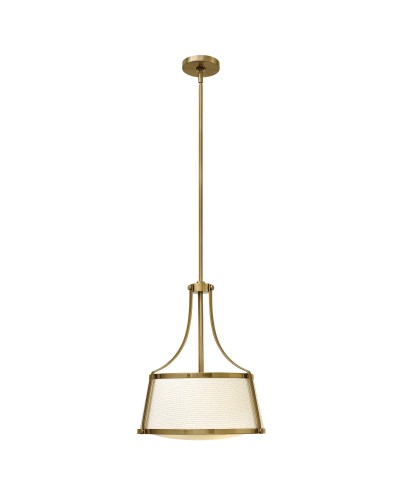 Hinkley Charlotte 3 Light Pendant In Brushed Caramel Finish With Height Adjustable Rods