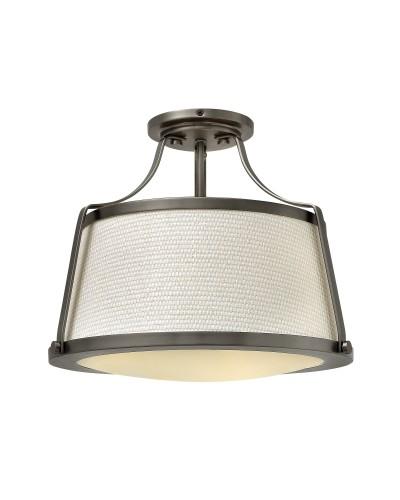 Hinkley Charlotte 3 Light Semi-Flush Ceiling Light In Antique Nickel Finish