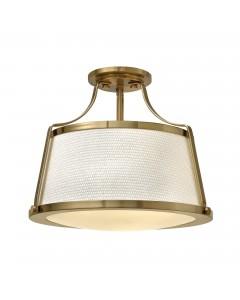 Hinkley Charlotte 3 Light Semi-Flush Ceiling Light In Brushed Caramel Finish
