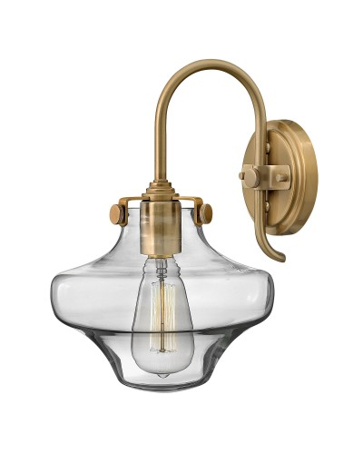 Hinkley Congress 1 Light Wall Light In Brushed Caramel Finish With Clear Glass Shade