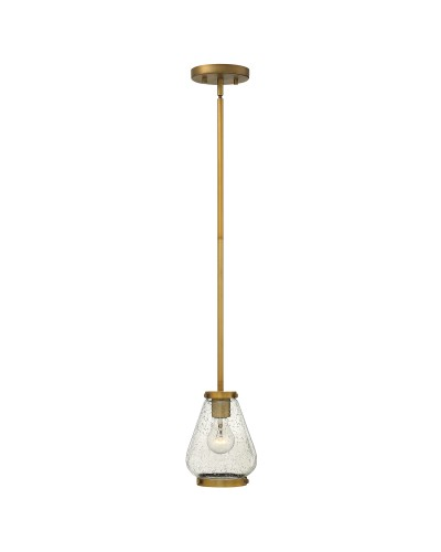 Elstead Lighting Hinkley Finley 1 Light Mini Pendant OR Semi-Flush Ceiling Light In Brushed Bronze Finish With Height Adjustable Rods