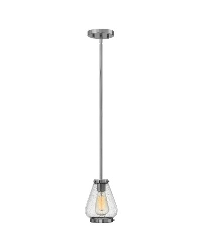 Elstead Lighting Hinkley Finley 1 Light Mini Pendant OR Semi-Flush Ceiling Light In Chrome Finish With Height Adjustable Rods