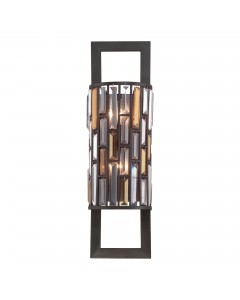 Elstead Lighting Hinkley Gemma 2 Light Large Crystal Wall Light In Vintage Bronze Finish