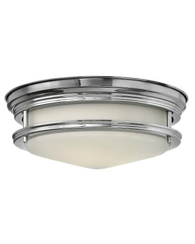 Elstead Lighting Hinkley Hadley 2 Light Bathroom Flush Mounted Ceiling Light In Polished Chrome Finish (IP44)