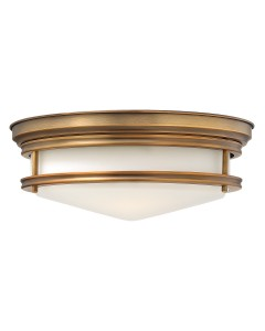 Elstead Lighting Hinkley Hadley 3 Light Flush Ceiling Light In Brushed Bronze Finish