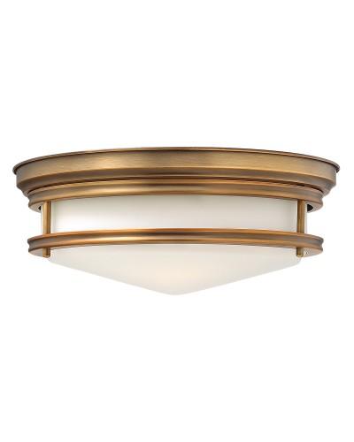 Elstead Lighting Hinkley Hadley 3 Light Flush Ceiling Light In Brushed Bronze Finish