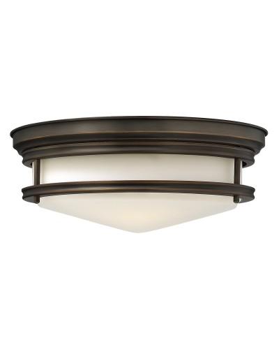 Elstead Lighting Hinkley Hadley 3 Light Flush Ceiling Light In Oil Rubbed Bronze Finish