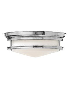 Elstead Lighting Hinkley Hadley 3 Light Flush Ceiling Light In Polished Chrome Finish
