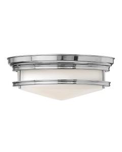 Elstead Lighting Hinkley Hadley 3 Light Flush Ceiling Light In Polished Chrome Finish