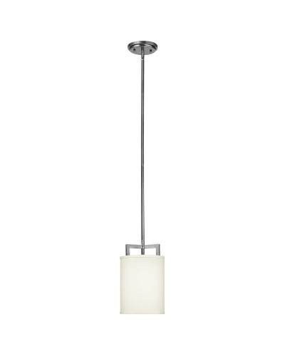 Elstead Lighting Hinkley Hampton 1 Light Mini Pendant In Antique Nickel Finish With Height Adjustable Rods