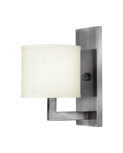 Elstead Lighting Hinkley Hampton 1 Light Wall Light In Antique Nickel Finish