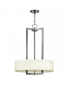 Elstead Lighting Hinkley Hampton 3 Light Pendant Chandelier In Antique Nickel Finish