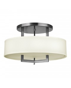 Elstead Lighting Hinkley Hampton 3 Light Semi-Flush Ceiling Light In Antique Nickel Finish