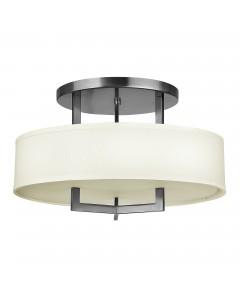 Elstead Lighting Hinkley Hampton 3 Light Semi-Flush Ceiling Light In Antique Nickel Finish