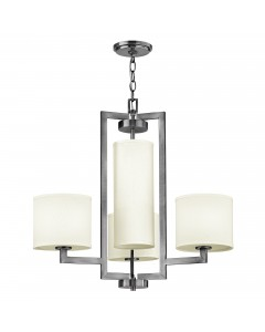 Elstead Lighting Hinkley Hampton 4 Light Chandelier In Antique Nickel Finish