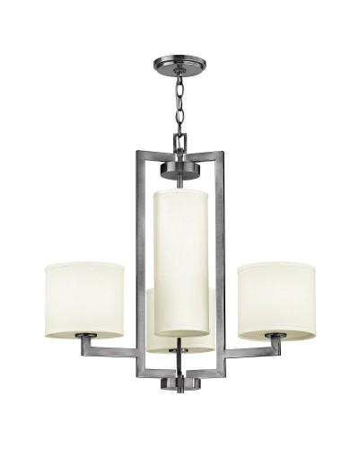 Elstead Lighting Hinkley Hampton 4 Light Chandelier In Antique Nickel Finish