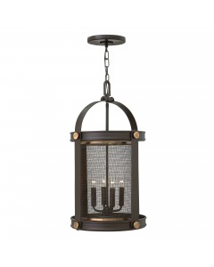 Elstead Lighting Hinkley Holden 4 Light Pendant Chandelier In Buckeye Bronze Finish