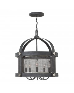 Elstead Lighting Hinkley Holden 5 Light Chandelier In Aged Zinc Finish