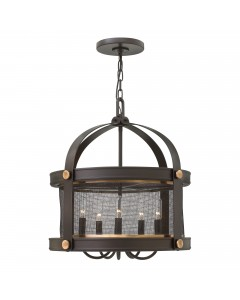 Elstead Lighting Hinkley Holden 5 Light Chandelier In Buckeye Bronze Finish