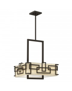 Elstead Lighting Hinkley Lanza 3 Light Large Pendant In Oil Rubbed Bronze Finish With Height Adjustable Rods
