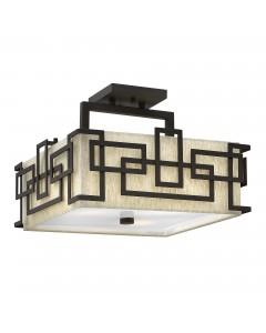 Elstead Lighting Hinkley Lanza 3 Light Semi-Flush Ceiling Light In Oil Rubbed Bronze Finish
