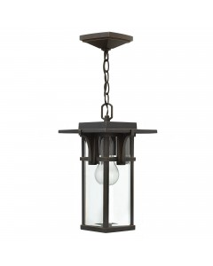 Elstead Lighting Hinkley Manhattan 1 Light Outdoor Chain Lantern In Oil Rubbed Bronze Finish