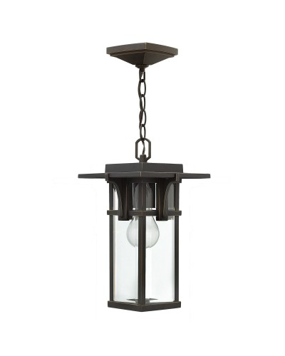 Elstead Lighting Hinkley Manhattan 1 Light Outdoor Chain Lantern In Oil Rubbed Bronze Finish