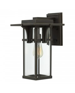Elstead Lighting Hinkley Manhattan Outdoor Wall Lantern - Medium - Bronze Finish