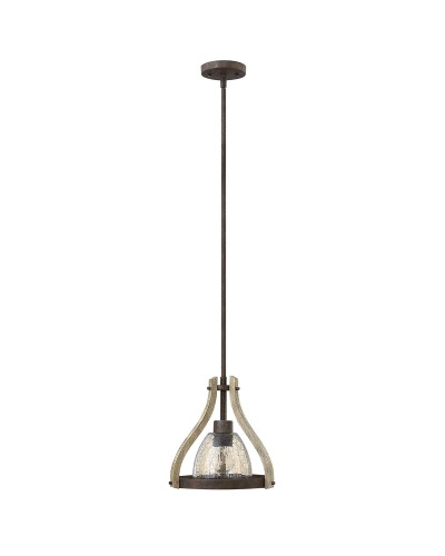 Elstead Lighting Hinkley Middlefield 1 Light Mini Pendant In Iron Rust Finish With Height Adjustable Rods