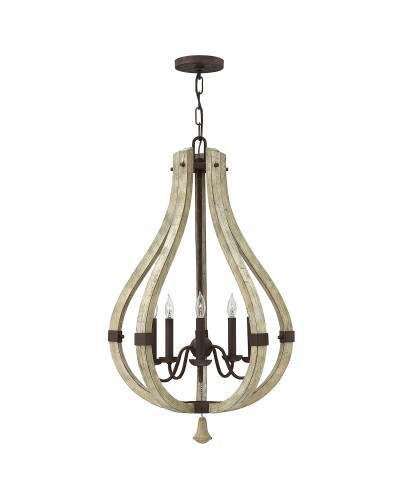 Elstead Lighting Hinkley Middlefield 5 Light Pendant Chandelier In Iron Rust Finish
