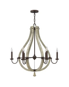 Elstead Lighting Hinkley Middlefield 6 Light Chandelier In Iron Rust Finish