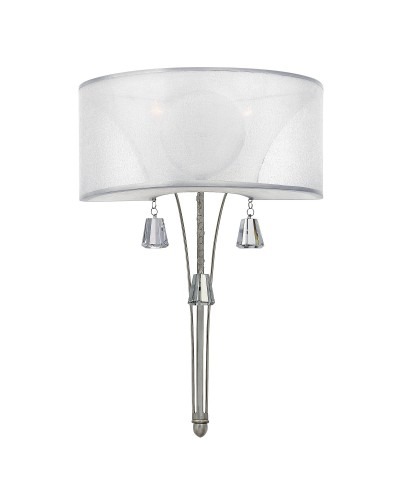 Elstead Lighting Hinkley Mime 2 Light Wall Light In Brushed Nickel Finish