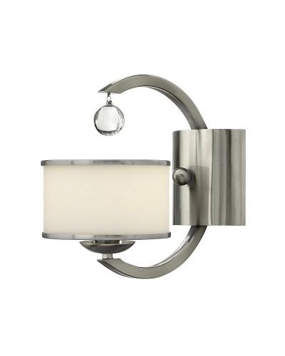 Elstead Lighting Hinkley Monaco 1 Light Wall Light In Brushed Nickel Finish