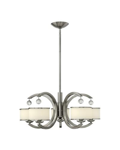 Elstead Lighting Hinkley Monaco 5 Light Chandelier In Brushed Nickel Finish With Height Adjustable Rods