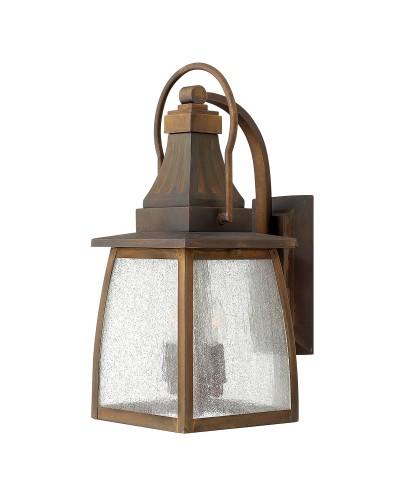 Elstead Lighting Hinkley Montauk 2 Light Outdoor Medium Wall Lantern In Sienna Finish