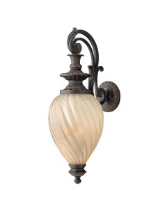 Elstead Lighting Hinkley Montreal 3 Light Large Outdoor Wall Lantern In Aged Iron Finish With Amber Optic Glass