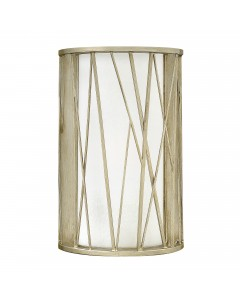 Elstead Lighting Hinkley Nest 1 Light Wall Light In Silver Leaf Finish With Etched Glass