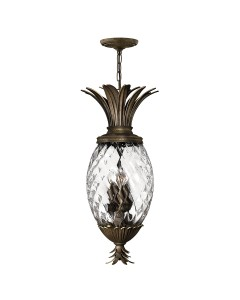Elstead Lighting Hinkley Plantation 4 Light Pineapple Pendant In Pearl Bronze Finish
