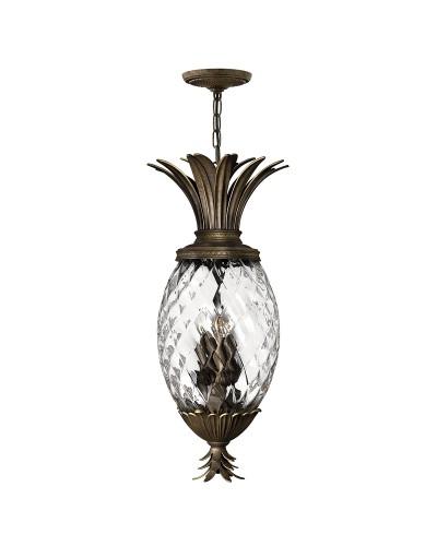 Elstead Lighting Hinkley Plantation 4 Light Pineapple Pendant In Pearl Bronze Finish