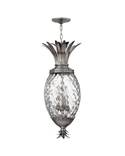 Elstead Lighting Hinkley Plantation 4 Light Pineapple Pendant In Polished Antique Nickel Finish