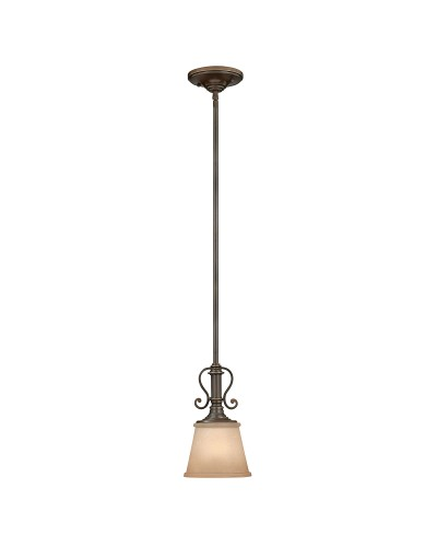Elstead Lighting Hinkley Plymouth 1 Light Mini Pendant In Old Bronze Finish With Height Adjustable Rods