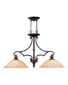 Elstead Lighting Hinkley Plymouth 2 Light Large Pendant In Old Bronze Finish