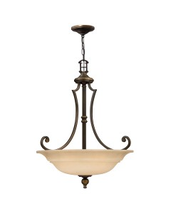 Elstead Lighting Hinkley Plymouth 3 Light Large Pendant In Old Bronze Finish