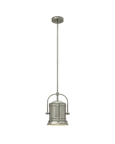 Elstead Lighting Hinkley Pullman 1 Light Pendant In Brushed Nickel Finish With 3 Height Adjustable Rods