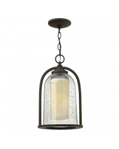 Elstead Lighting Hinkley Quincy 1 Light Outdoor Chain Lantern In Oil Rubbed Bronze Finish