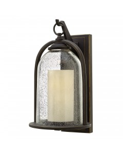 Elstead Lighting Hinkley Quincy 1 Light Outdoor Medium Wall Lantern In Oil Rubbed Bronze Finish