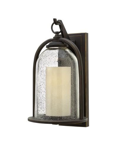 Elstead Lighting Hinkley Quincy 1 Light Outdoor Medium Wall Lantern In Oil Rubbed Bronze Finish