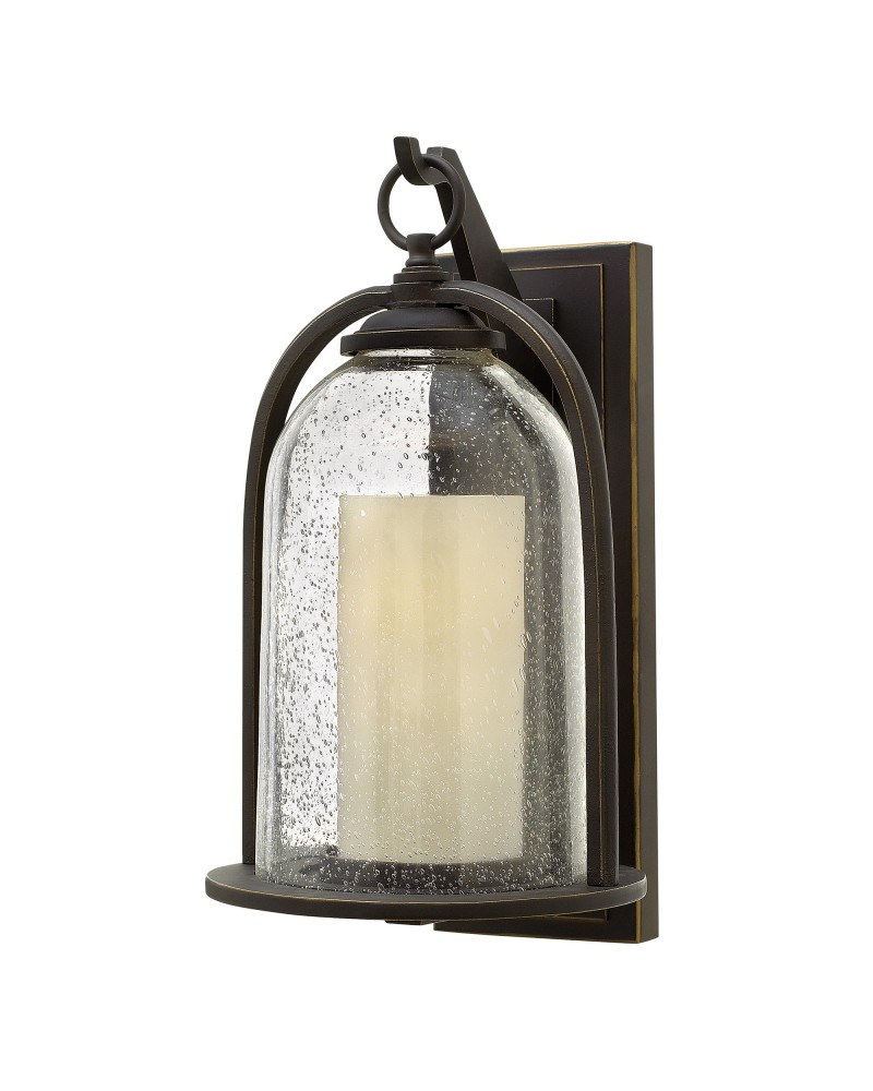 Lighting Hinkley Quincy 1 Light Outdoor Medium Wall Lantern In Oil ...